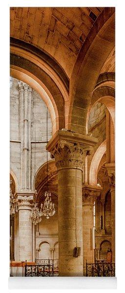 Poissy, France - Altar, Notre-dame De Poissy Yoga Mat