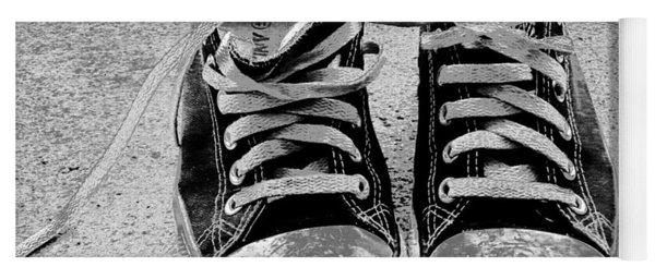 Old Sneakers. Yoga Mat