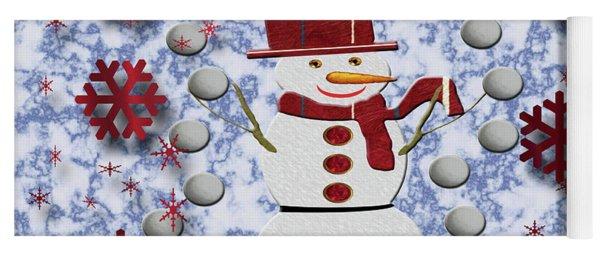 Yoga Mat featuring the photograph Alto Cheerful Snowman by Rockin Docks Deluxephotos