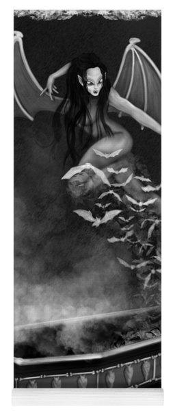 Always Awake - Black And White Fantasy Art Yoga Mat
