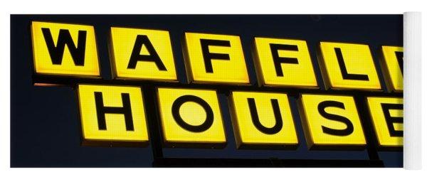 Always Open Waffle House Classic Signage Art  Yoga Mat