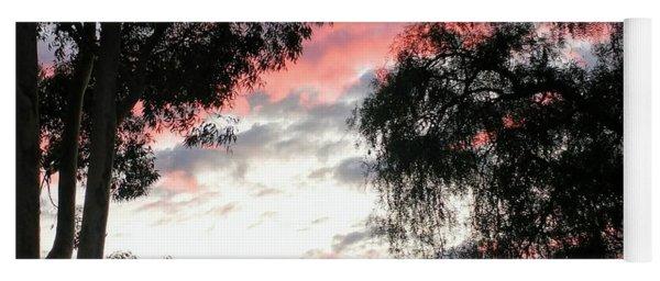 Amazing Clouds Black Trees Yoga Mat