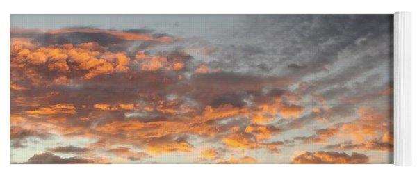 Fiery Sunset Yoga Mat