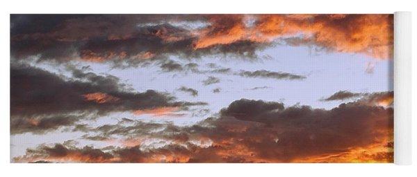 Glorious Clouds At Sunset Yoga Mat