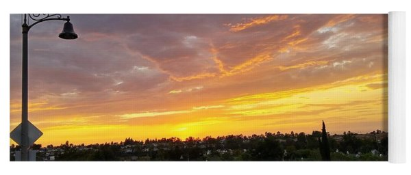 Colorful Sunset In Mission Viejo Yoga Mat
