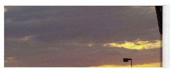 Patriotic Sunset Yoga Mat