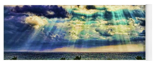 Amazing Grace - Sun Rays Before Sunset By Diana Sainz Yoga Mat