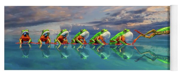 Amazon Tree Frog The Vocal Jumper Yoga Mat