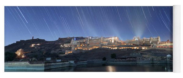 Yoga Mat featuring the photograph Amber Fort After Sunset by Pradeep Raja Prints