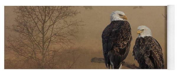 Yoga Mat featuring the photograph American Bald Eagle Family by Patti Deters