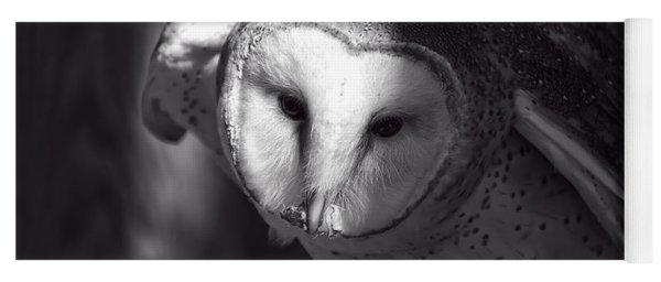 American Barn Owl Monochrome Yoga Mat