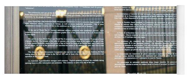 American Battle Monuments Commission Yoga Mat