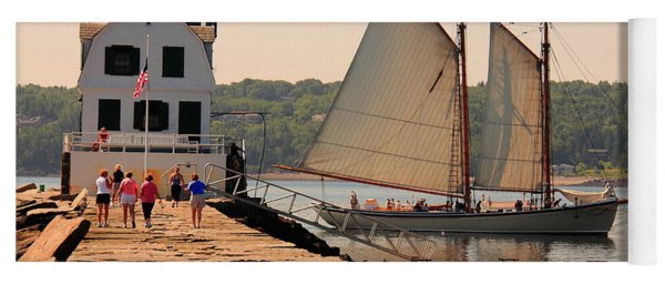 American Eagle At The Lighthouse Yoga Mat