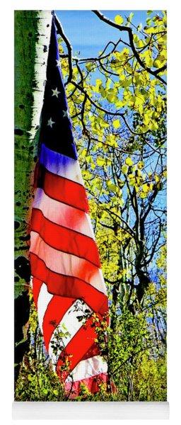 American Flag A Veteran Hunters Homage Yoga Mat