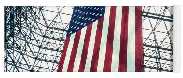 American Flag In Kennedy Library Atrium - 1982 Yoga Mat