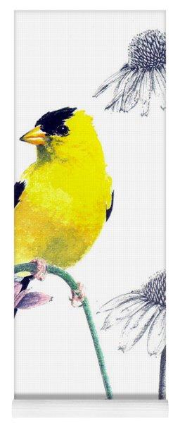 American Goldfinch On Coneflowers Yoga Mat
