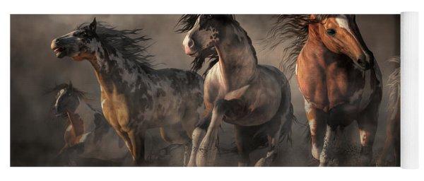 American Paint Horses Yoga Mat