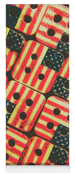 American Quilting Background Yoga Mat