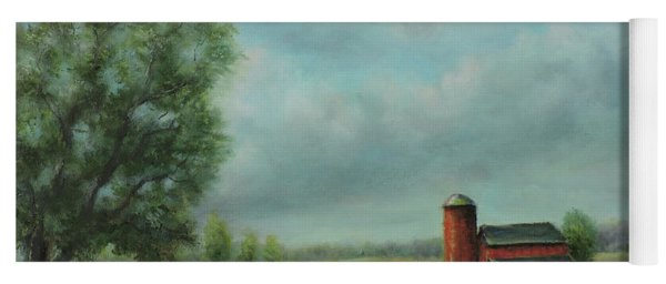 American Scene Red Barn  Yoga Mat
