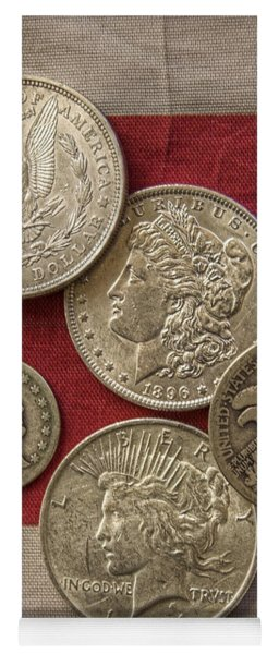 American Silver Coins Yoga Mat