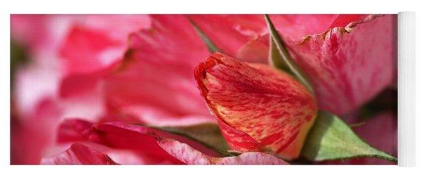 Amongst The Rose Petals Yoga Mat