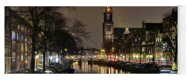 Amsterdam By Night - Prinsengracht Yoga Mat