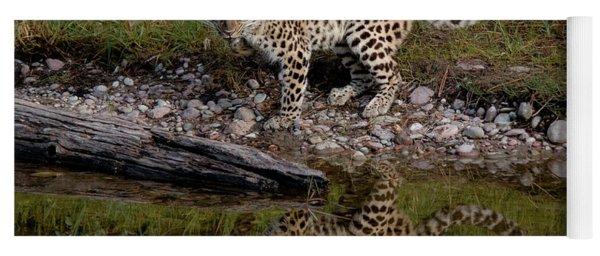 Amur Leopard Reflection Yoga Mat