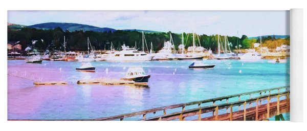 An Abstract View Of Southwest Harbor, Maine  Yoga Mat