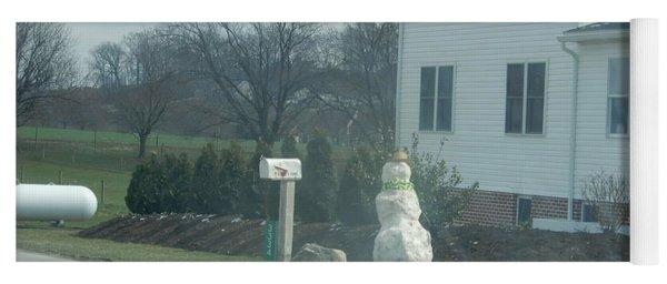 An Amish Snowman Yoga Mat