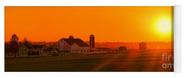 An Amish Sunset Yoga Mat