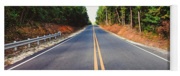 An Empty Road Yoga Mat