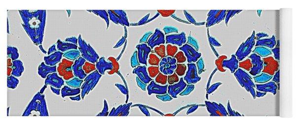 An Iznik Polychrome Tile, Turkey, Circa 1575, By Adam Asar, No 24s Yoga Mat