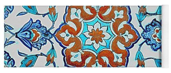 An Iznik Polychrome Tile, Turkey, Circa 1580, By Adam Asar, No 18b Yoga Mat
