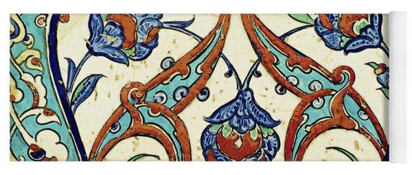 An Iznik Polychrome Tile, Turkey, Circa 1580, By Adam Asar, No 20k Yoga Mat