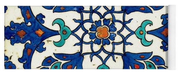 An Iznik Polychrome Tile, Turkey, Circa 1585, By Adam Asar, No 26a Yoga Mat