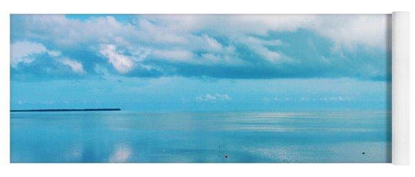 An Ocean Like Glass Yoga Mat