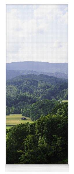An Old Shack Hidden Away In The Blue Ridge Mountains Yoga Mat