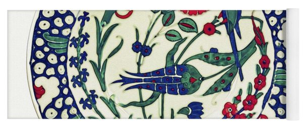 An Ottoman Iznik Style Floral Design Pottery Polychrome, By Adam Asar, No 1a Yoga Mat