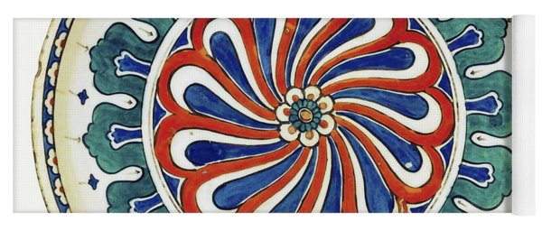 An Ottoman Iznik Style Floral Design Pottery Polychrome, By Adam Asar, No 20a Yoga Mat