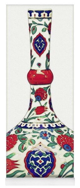 An Ottoman Iznik Style Floral Design Pottery Polychrome, By Adam Asar, No 5a Yoga Mat