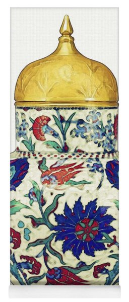 An Ottoman Iznik Style Floral Design Pottery Polychrome, By Adam Asar, No 8a Yoga Mat