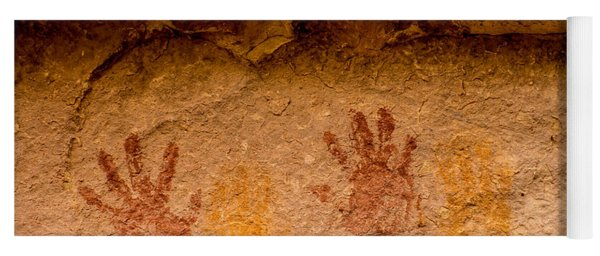 Anasazi Painted Handprints - Utah Yoga Mat