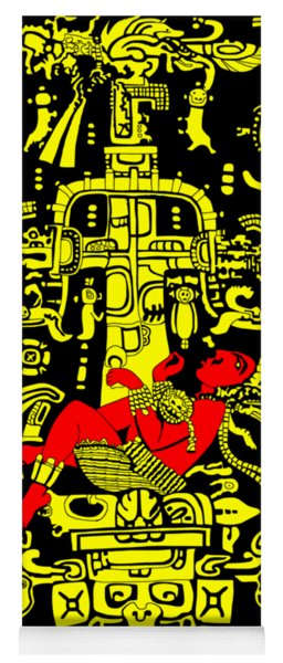 Ancient Astronaut Yellow And Red Version Yoga Mat