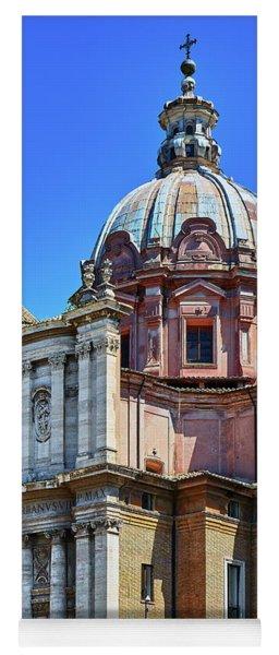Yoga Mat featuring the photograph Ancient Government Building At The Roman Forum by Eduardo Jose Accorinti