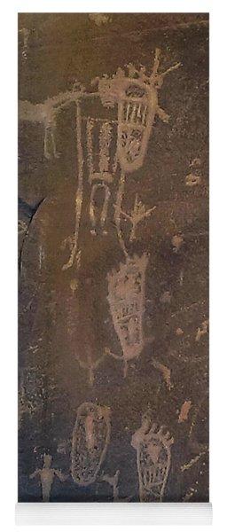Ancient Puebloan Petroglyph Panel Yoga Mat