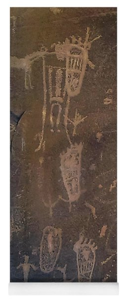Ancient Puebloan Petroglyph Panel Yoga Mat