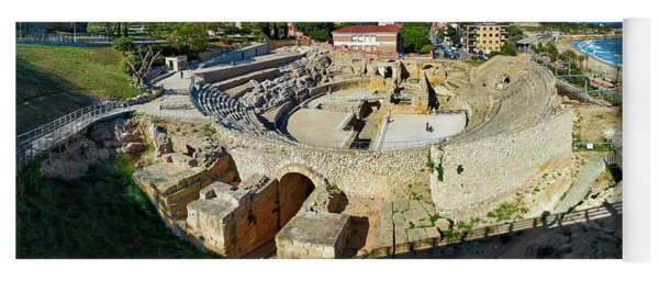 Yoga Mat featuring the photograph Ancient Roman Amphitheater In Spain by Eduardo Jose Accorinti