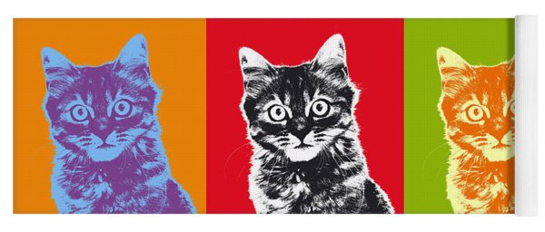 Andy Warhol Cat Yoga Mat