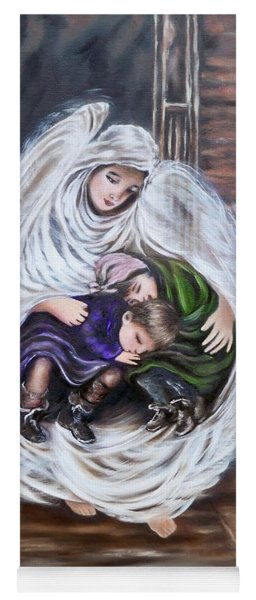 Flying Lamb Productions.        Angel And The Orphans Yoga Mat