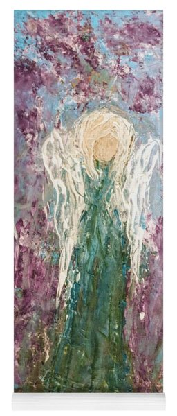 Angel Draped In Hydrangeas Yoga Mat